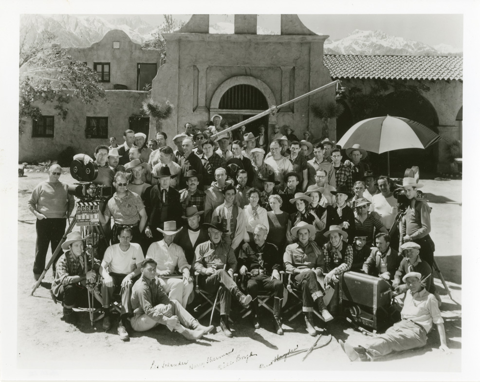 HOLL 1e--Movie set, Hopalong Cassidy at Spainhower Ranch 1939
