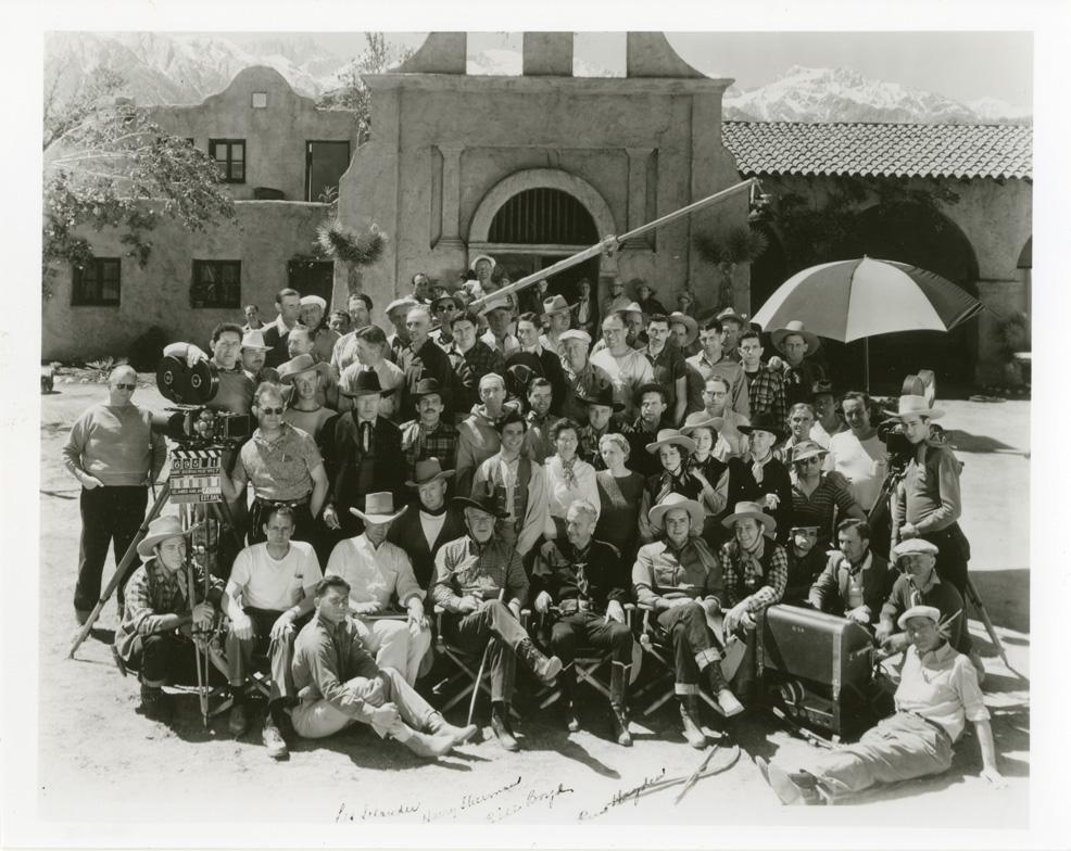 HOLL 1e--Movie set, Hopalong Cassidy at Spainhower Ranch 1939